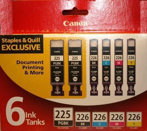 Canon Pgi-225pgbk & Cli-226 Black/cyan/mag/yellow Combo Ink 6-pak by Canon