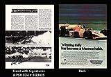 Signed Unser Photograph – Bobby & 8×10 INDY Car Magazine Racing PSA COA – Autographed NASCAR Photos