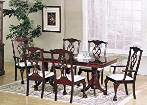 beautiful cherry finish chippendale dining