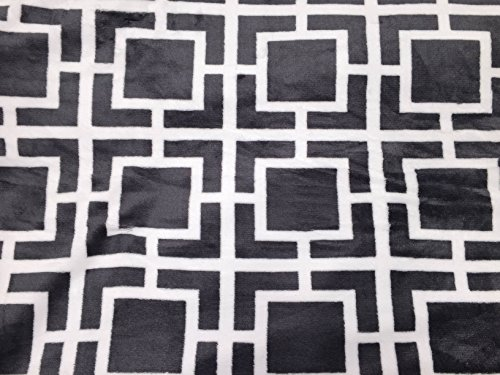 "Purchase Sunbeam Heated Throw Reversible Grey White Lattice 50""x60"""
