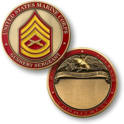 U.S. Marines Gunnery Sergeant Engravable Challenge Coin