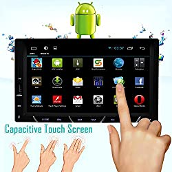 See Universal Android 4.2 Car Stereo Radio no dvd player 7 Inch In-Dash Multi-Touch Capacitive touch with 3G WIFI GPS Navigation 3D MAP RDS IPOD Bluetooth with Rear camera Details