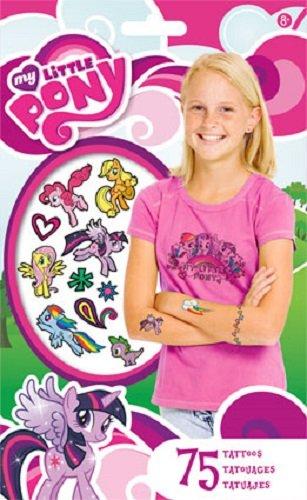 My Little Pony Temporary Tattoos - 75 Tattoos - Twilight Sparkle, Rainbow Dash, Fluttershy, Pinkie Pie, Applejack, Rarity, Spike the Dragon, Princess Celestia, and Princess Luna! - 1