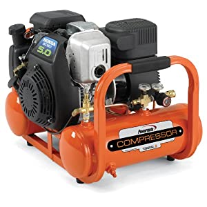 Industrial Air Contractor CTA5090412 4-Gallon Grade Direct Drive Pontoon Air Compressor with Honda Engine by Powermate Contractor