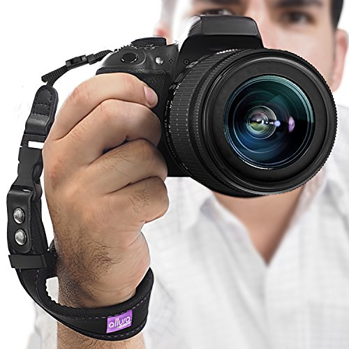 (2016 Update) Rapid Fire™ Heavy Duty Safety Wrist Strap by Altura Photo w/ 2 Alternate Connections for Use w/ Large DSLR or Point & Shoot Cameras
