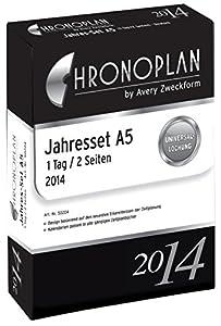 Chronoplan 50204 Kalendarium Jahres-Set A5, 1 Tag/2 Seiten, 2014, 1 Stück, weiß