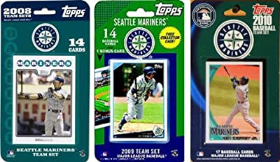 MLB Seattle Mariners 3 Different Licensed Trading Card Team Sets