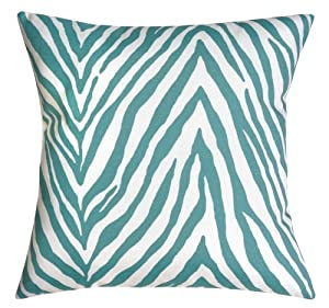 Amazon.com : Outdoor Pillows Cushions Animal Print Turquoise Blue Zebra Print for Couch Indoor ...