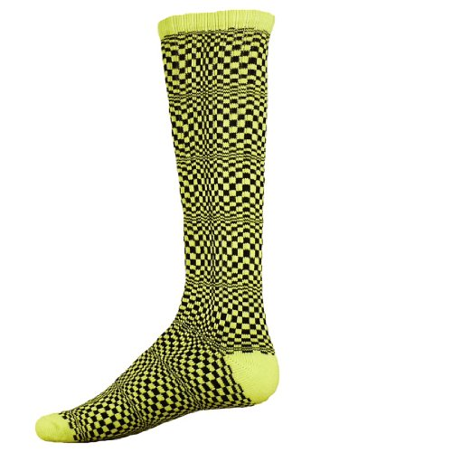 Red Lion Illusion Vibrant Athletic Socks (Neon Green / Black - Medium) front-826565