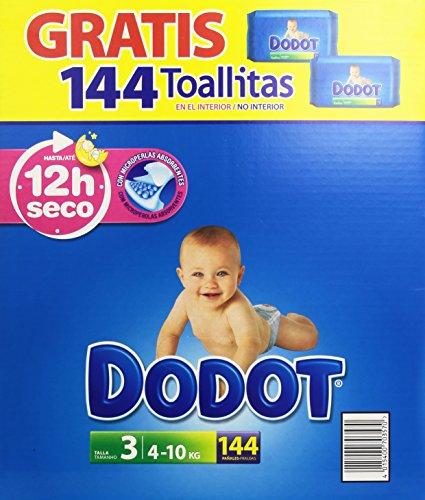 Pack-Dodot bebè fazzoletti-Pannolini taglia: 3, 4-10 kg-144 pezzi