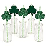 St. Patrick s Day - Saint Patty s Day Party Straw Decor with Paper Straws - Set of 24