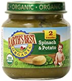 Earth's Best Organic Stage 2, Spinach & Potato, 4 Ounce Jar (Pack of 12)