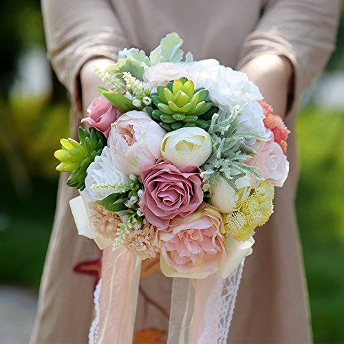 Succulent Plants Bouquet Chic Wedding Flowers Silk Flowers Wedding Bouquet Romantic Bridal Bouquet