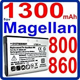 1300mAh Li-Ion Battery for Magellan RoadMate 800 , 860 , 860T GPS