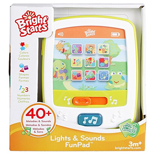 [Bright Starts Lights & Sounds FunPad - Baby Toddler Learning Fun Toy - Brand New 3 Months +] (Animals That Start With The Letter B)