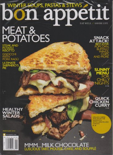 Bon Appetit February 2010 Meat & Potatoes (Winter Soups, Pastas & Stews)