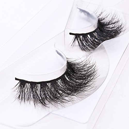 Arimika 3D Long Thick Dramatic Looking Handmade Mink Fur False Eyelashes For Makeup 1 Pair Pack (Super Long Eyelashes compare prices)