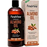 100% Pure Almond Oil - 16 oz - For Skin Moisturizer, Wrinkles, Massage, Anti-Aging and Baby Oil - Best Cold Pressed, Organic Carrier Oil. (Tamaño: 16 Ounces)