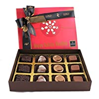 Rakhi Gift - Gift For Bother/ Sister Raksha Bandhan Signature Box Of 12 Chocolates