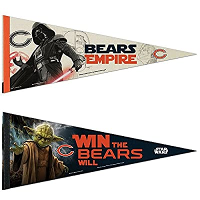 Chicago Bears NFL Star Wars Darth Vader Premium Pennant And Yoda Bundle 2 Pack