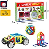 Powerpak Xinbida Magical Magnet-40pcs Magnetic Building Blocks 3D Puzzle Learning Toy For Kids (No.702)