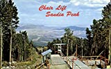 Chair Lift Sandia Peak Ski Area New Mexico Original Vintage Postcard