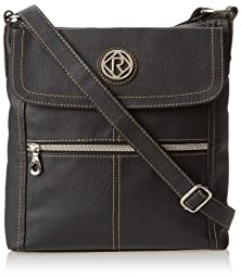 Relic Women\'s Erica Flap Crossbody Bag, Black, One Size