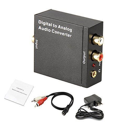 FarSail FS109 Optical SPDIF/Coaxial Digital to RCA L/R Analog Audio Converter with 3.5mm Jack Support Simultaneous Headphone with Speaker Outputs (Disable Auto R compare prices)