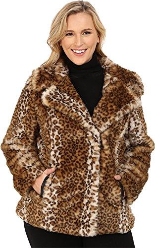 Via Spiga Women's Plus Size Novelty Faux Fur