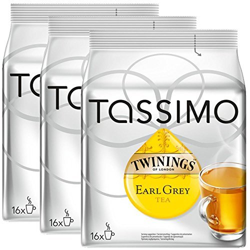 Order Bosch Tassimo 'Twinings Earl Grey Tea' 16 T Disc Coffee Machine Capsules (Pack of 3) by Bosch