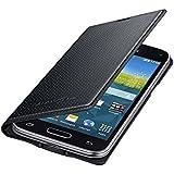 Samsung Flip Premium Case Cover for Samsung Galaxy S5 Mini - Black/Pattern