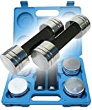ScSPORTS 111C0002 Chrome Dumbbell Set in Case Blue