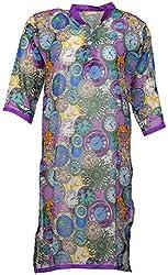 Anshul Textile Women's Georgette Regular Fit Kurta (Multi Color)