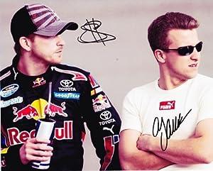 Buy 2009 AJ Allmendinger Scott Speed (RedBull Racing Team) NASCAR 8X10 Photo *2X SIGNED* by Trackside Autographs