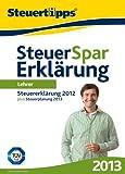Steuer-Spar-Erklärung für Lehrer 2013 (für Steuerjahr 2012 / Frustfreie Verpackung)