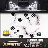 Xprite New Version White 8pc 24 LED Truck Bed Rail Light Side Marker LED Lighting Kit w/ Switch