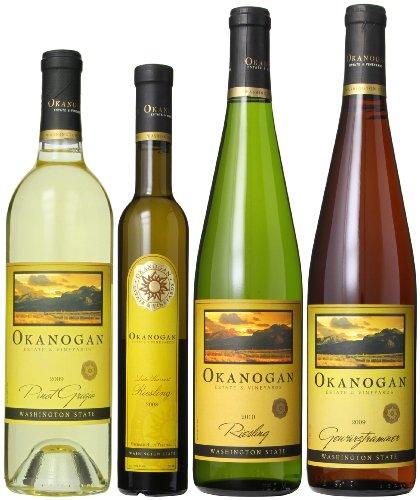 Okanogan Estate & Vineyards Winter In The North Washington White Wines Mixed Pack, 1 X 375Ml, 3 X 750 Ml