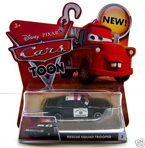 Disney Cars Toon Rescue Squad Trooper Die Cast Car by Mattel - 1