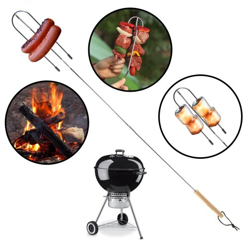 6 Coleman Collapsible BBQ Camp Fork Telescoping Roast Marshmallow Kabob Hotdog