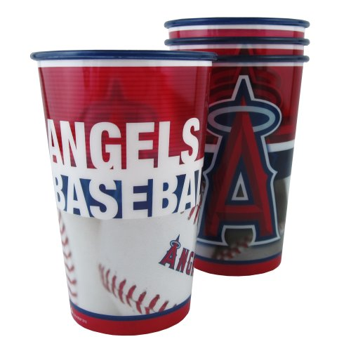 MLB Los Angeles Angels Souvenir Cups (4-Pack), 20-Ounce