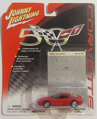 Johnny Lightning Corvette 50th Anniversary Series 1997 Corvette RED 42/50 - 1