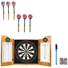 Click here to buy NHL Boston Bruins Dart Cabinet includes Darts and Board by Trademark.