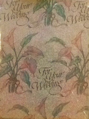 American Greetings, Forget Me Not., Iridescent Wedding Gift Wrap Paper 8.33 Sq Ft- 1 Sheet front-731628