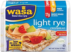 Amazon.com: Wasa Light Rye Crispbread, 9.5 Ounce Packages