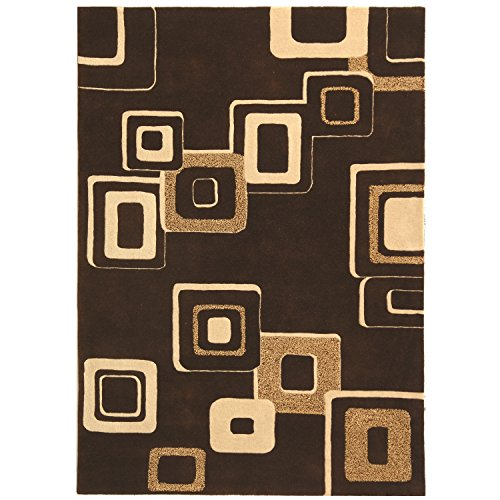 Safavieh Soho Collection SOH711B Handmade Brown and Beige Wool Area Rug, 5 feet by 8 feet (5' x 8')