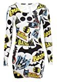 [14] Ladies Batman Comic Logo Mini Sexy Bodycon Dress Ladies Dress Size 8-14