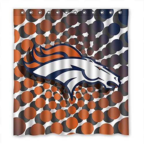 DONGMEN Custom Denver Broncos Shower Curtain Waterproof Polyester 66
