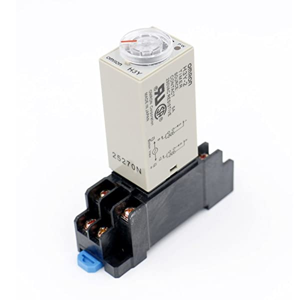 Baomain AC 110V H3Y-2 Time Delay Relay Timer 10Min DPDT with Socket (Color: Grey)