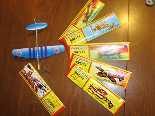 "6 Glider Planes Birthday Party Favors Foam 8"" Fighter War Plane"