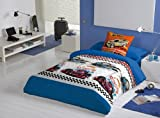 HOT WHEELS ACTION CARS Single Bedding Set, Duvet with 3pc: duvet cover + fitted sheet + pillowcase Bed 90cm
